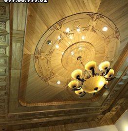 Mẫu trần gỗ Xoan đẹp nhất tại Ninh Bình