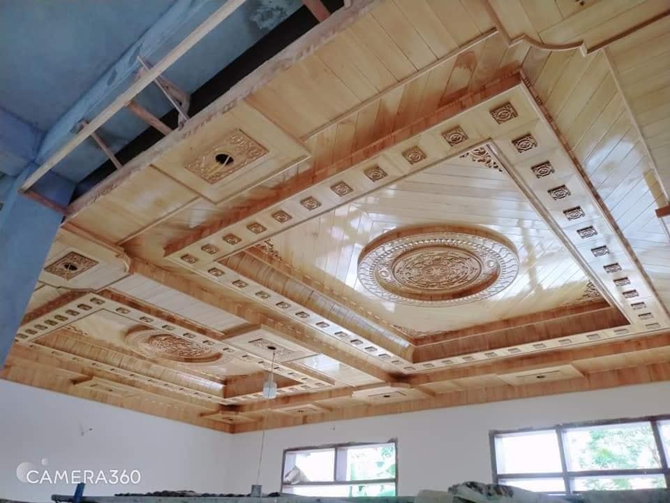 trần gỗ Pơ mu tại Thái Bình